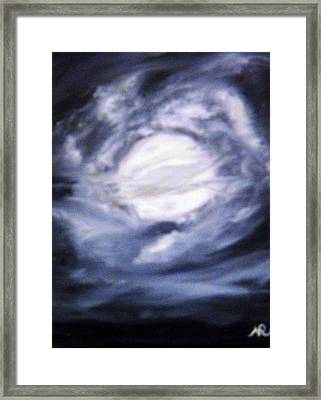 The Moon Was Caught In A Vortex Framed Print by Nicla Rossini