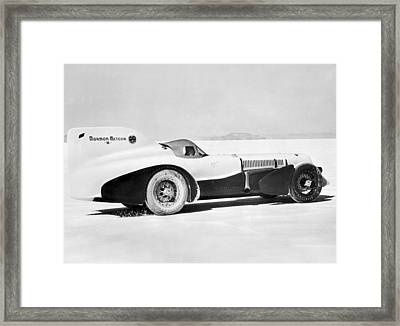 The Mormon Meteor Race Car Framed Print by Underwood Archives