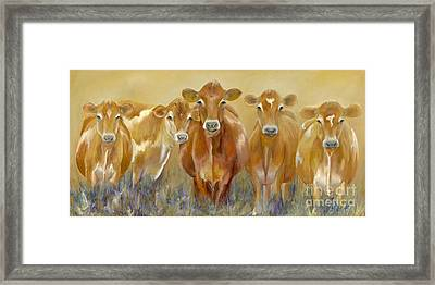 The Morning Moo Framed Print by Catherine Davis