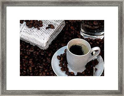 The Morning Paper Framed Print by Cole Black