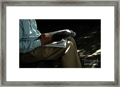 The Morning Paper  Framed Print by Steven  Digman