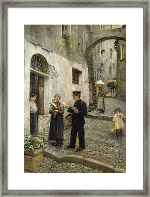 The Morning Post Framed Print by Paul Fischer