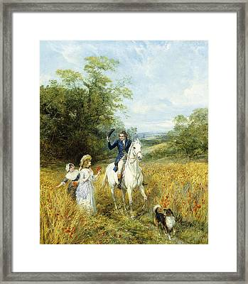 The Morning Ride Framed Print by Heywood Hardy