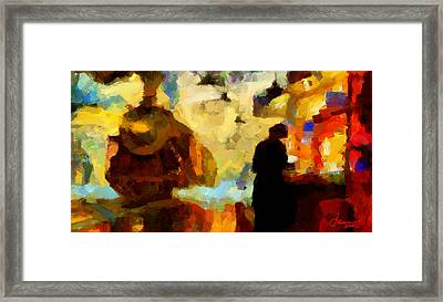 The Morning Train Tnm Framed Print by Vincent DiNovici