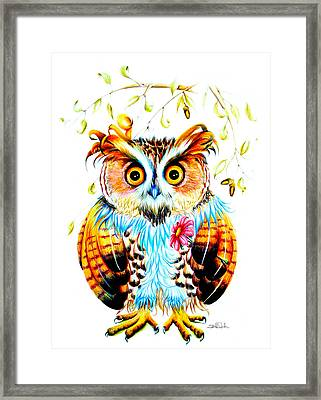 The Most Beautiful Owl Framed Print by Isabel Salvador