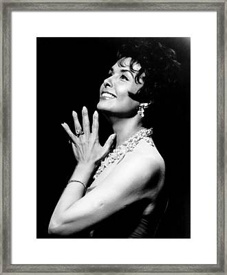 The Most In Music Lena In Session, Lena Framed Print by Everett