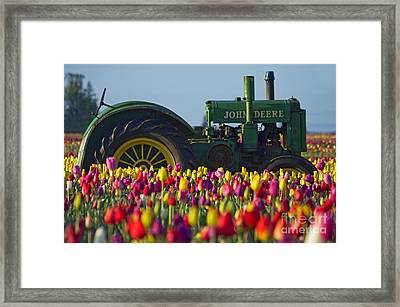 The Most Photographed Tractor In Oregon Framed Print by Nick  Boren