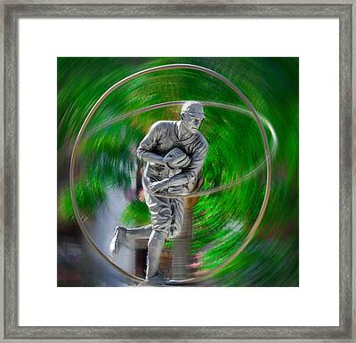 The Motion Of The Pitch Framed Print by Bill Cannon