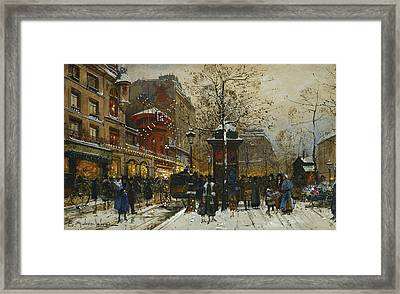 The Moulin Rouge Paris Framed Print by Eugene Galien-Laloue