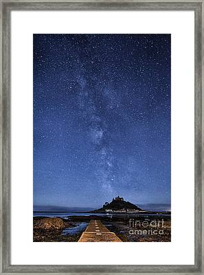 The Mount And The Milkyway Framed Print by John Farnan