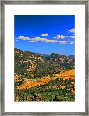 The Mountains Are Alive Framed Print by Kathleen Struckle