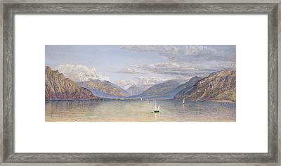 The Mountains Of St Gingolph Framed Print by John Brett