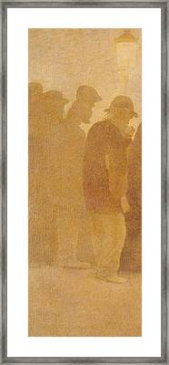 The Mouthful Of Bread, Waiting In Line, Study For Charity Framed Print by Fernand Pelez