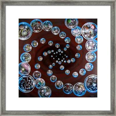 The Multiverse In God's Eye Framed Print by Sam Del Russi