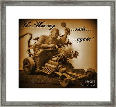 The Mummy Rides In Halifax Framed Print by John Malone