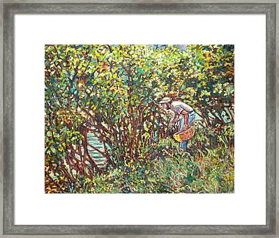The Mushroom Picker Framed Print by Kendall Kessler