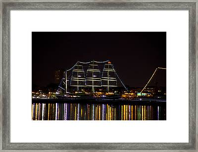 The Mushulu At Night Framed Print by Bill Cannon