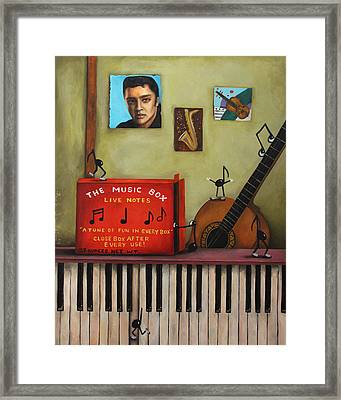 The Music Box Framed Print by Leah Saulnier The Painting Maniac