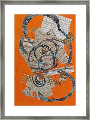 The Music Goes Round And Round Framed Print by David Raderstorf