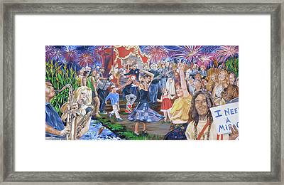 The Music Never Stopped Framed Print by Bryan Bustard