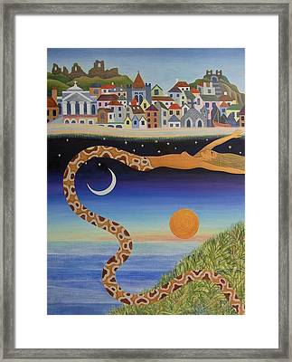 The Mysterious Process Of Coming To Town Framed Print by Jennifer Baird