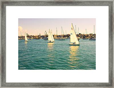 The Mystery Of Sailing Framed Print by Angela A Stanton