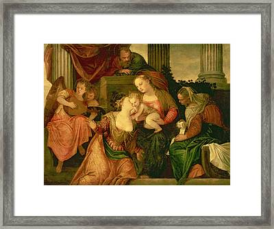 The Mystic Marriage Of Saint Catherine Framed Print by Veronese