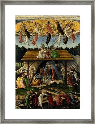 The Mystical Nativity Framed Print by Sandro Botticelli