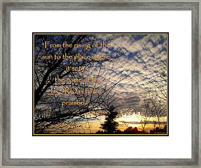 The Name Of The Lord Framed Print by Glenn McCarthy Art and Photography