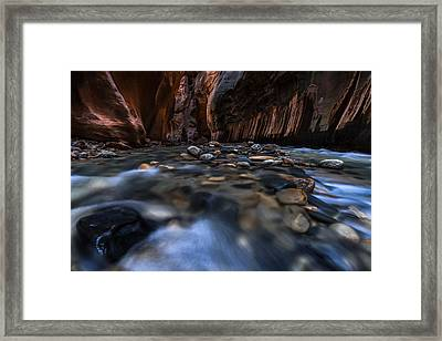 The Narrows At Zion National Park - 1 Framed Print by Larry Marshall