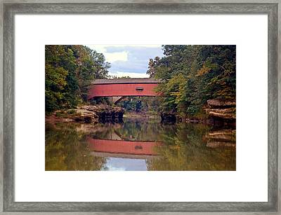 The Narrows Covered Bridge 4 Framed Print by Marty Koch