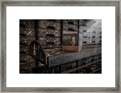 The National Screw Framed Print by Susan Candelario