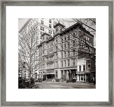 The National Theatre - Washington Dc 1918 Framed Print by Mountain Dreams