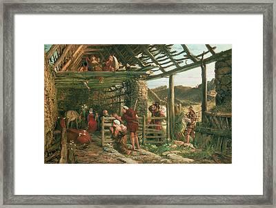 The Nativity, 1872 Framed Print by William Bell Scott