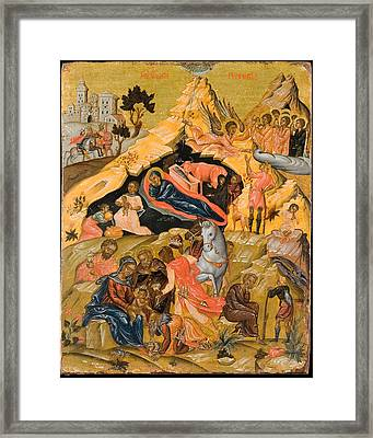 The Nativity And The Adoration Of The Magi Framed Print by Celestial Images