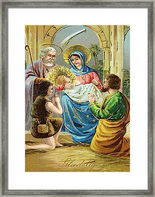 The Nativity Framed Print by Bill Cannon