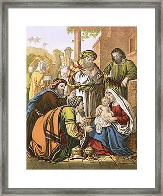 The Nativity Framed Print by English School