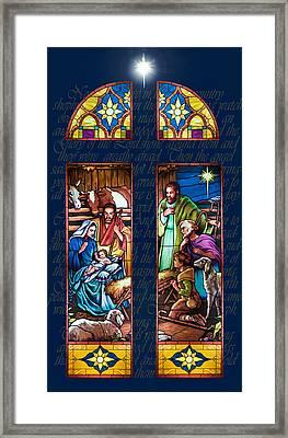 The Nativity Framed Print by Jean Hildebrant