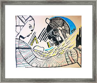 The Nativity Of Jesus Framed Print by Gloria Ssali