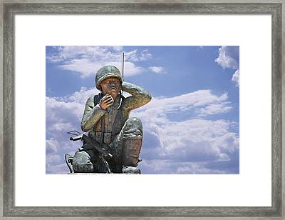 The Navajo Code Talkers Framed Print by Christine Till