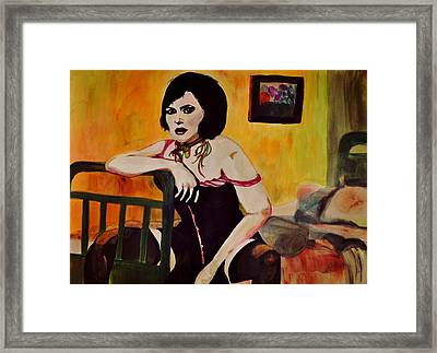 The Necklace Framed Print by Jill Jacobs