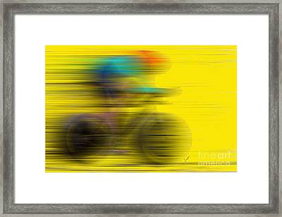 The Need For Speed Framed Print by Sergio B
