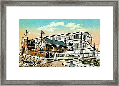 The Negro League Park Stadium In Cleveland Oh Around 1915 Framed Print by Dwight Goss