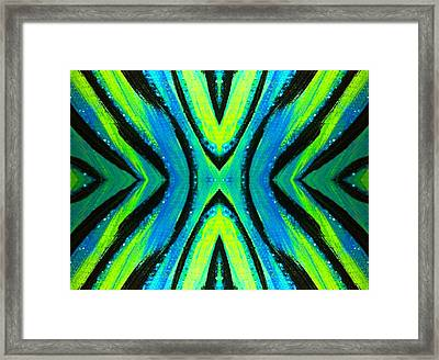 The Neon Zebra Framed Print by Drew Goehring