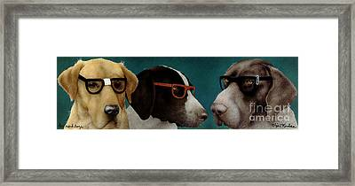 The Nerd Dogs... Framed Print by Will Bullas