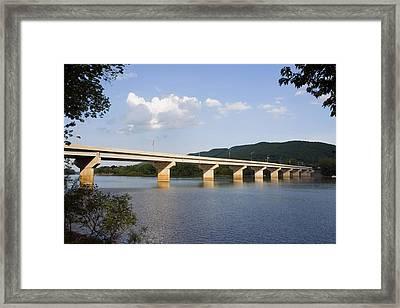 The New Arch Street Bridge Framed Print by Gene Walls