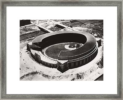 The New Cleveland Stadium Framed Print by Underwood Archives