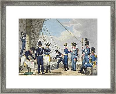 The New Imperial Royal Austrian Navy Framed Print by Phillip von Stubenrauch