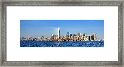 The New Manhattan Framed Print by Olivier Le Queinec