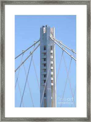 The New San Francisco Oakland Bay Bridge 7d25449 Framed Print by Wingsdomain Art and Photography